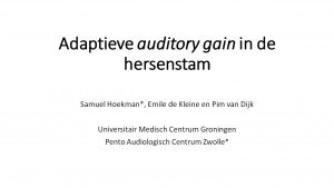 Plaatje Adaptieve auditory gain in de hersenstam